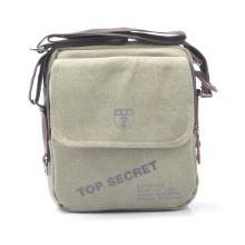 Canvas Crossbody Bag with One Shoulder Strap