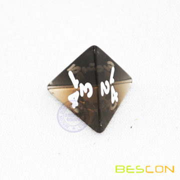 Smoke Translucent 4 Sided Dice with Number 1-4