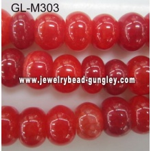 Abacus shape agate bead-cherry cracked
