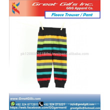 stylish printed fashion wear trouser for boys and girls custom made in fleece for warm winter