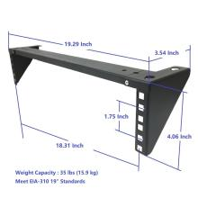Support de rack mural pliant Lightload 2U 19 ""