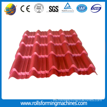 Roofing Colored Glazed Tile Cold Roll que forma la máquina
