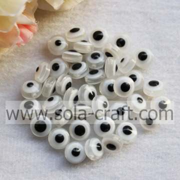 Solid White Bracelet Resin Plastic Beads Latest Design Necklace Evil Eye Beads Beads