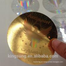 wholesale 3D segurança Holograma personalizado adesivos para carro