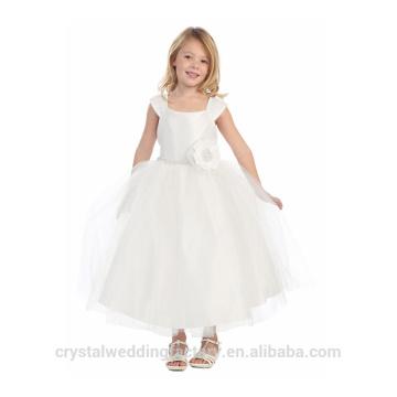 Niños de la boda 2-12 años de edad de moda niñas de cumpleaños de largo vestido de bola vestido de niña vestidos patrón de desgaste de los niños LF05