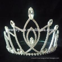 Nuevo producto y la forma única de desfile de cristal coronas y tiaras