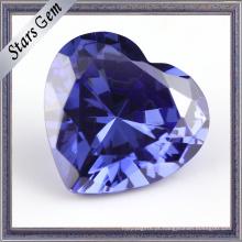 Tanzanite Forma Coração Azul Cúbico Zirocnia CZ Gemstone