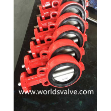 Red Colour Wafer Butterfly Valve (WDS)