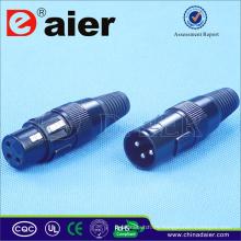 Venta caliente 3 Pin XLR Electrical Connector, Electrical Pin Connector;