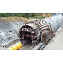 Открытая туннельная тележка для стальных конструкций