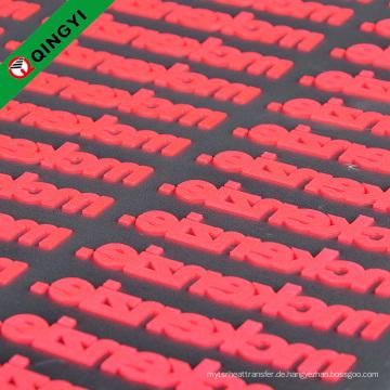 Präge Silikon QingYi hochwertige maßgeschneiderte Eisen auf Kleidung Aufkleber
