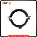 all sizes M8 heavy duty cast iron pipe clamp with rubber