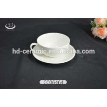 promotion white ceramic cup and saucer,China factory direct wholesale ceramic coffee cup and saucer
