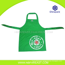 Kitchen useful green cheap custom apron for wholesale