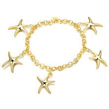 Pulsera Estrella Encanto Pulsera Charm Oro Mujeres