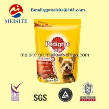 Kundengebundene freie Probe stehen oben Reißverschluss-Haustier-Nahrungsmittelbeutel