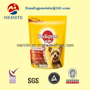 Mains libres personnalisés Stand up Zip Lock Pet Food Bag
