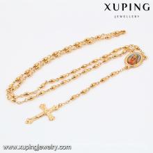 42338 Xuping Jewelry Fashion 18K chapado en oro collar cruzado con cruz colgante