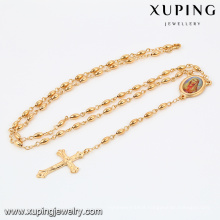 42338 Xuping Jewelry Fashion 18K Gold Plated Cross Necklace With Cross Pendant