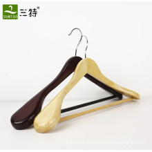 Hot selling wholesale wood hotel suit clothes hanger manufacturer