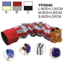 Túnel al por mayor del gato con los juguetes que juegan. Juguete del gato (YF5040)