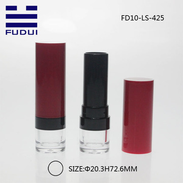 Empty plastic cosmetic lip balm containers packaging