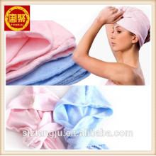 Волосы полотенцем голову обернуть тюрбан микрофибры тренажерный зал полотенце СПЫ