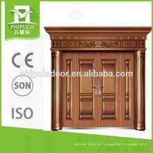 Puerta de acero de doble hoja de imitación de cobre 2016 de Yongkang
