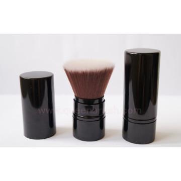 Escova retrátil Kabuki de cabelo sintético de excelente qualidade