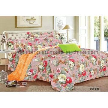 Handfeeling macio de alta qualidade impresso 100% tecido de folha de cama de algodão