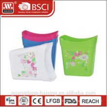 Open top high quality wate basket with colorful pattern