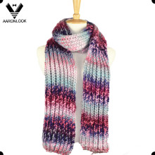 Women Colorful Fashion Knit Warm Scarf Made in China