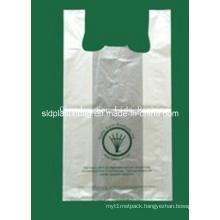 HDPE Whitte T-Shirt Plastic Shopping Bag