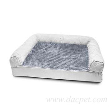 soft memory foam filling reversible pet bed sofa