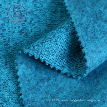 High Quality 280gsm 100% Polyester Space Dye Knit Sweater Fleece Fabric