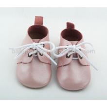 Chaussures en cuir véritable de couleur Bringht bébé semelle douce Chaussures Oxford