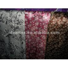 Seda-como tela satén impreso para modificar-hecho vestido de la señora
