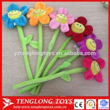 Fabrik Preis bunte formbare Plüsch Blumen mit Draht