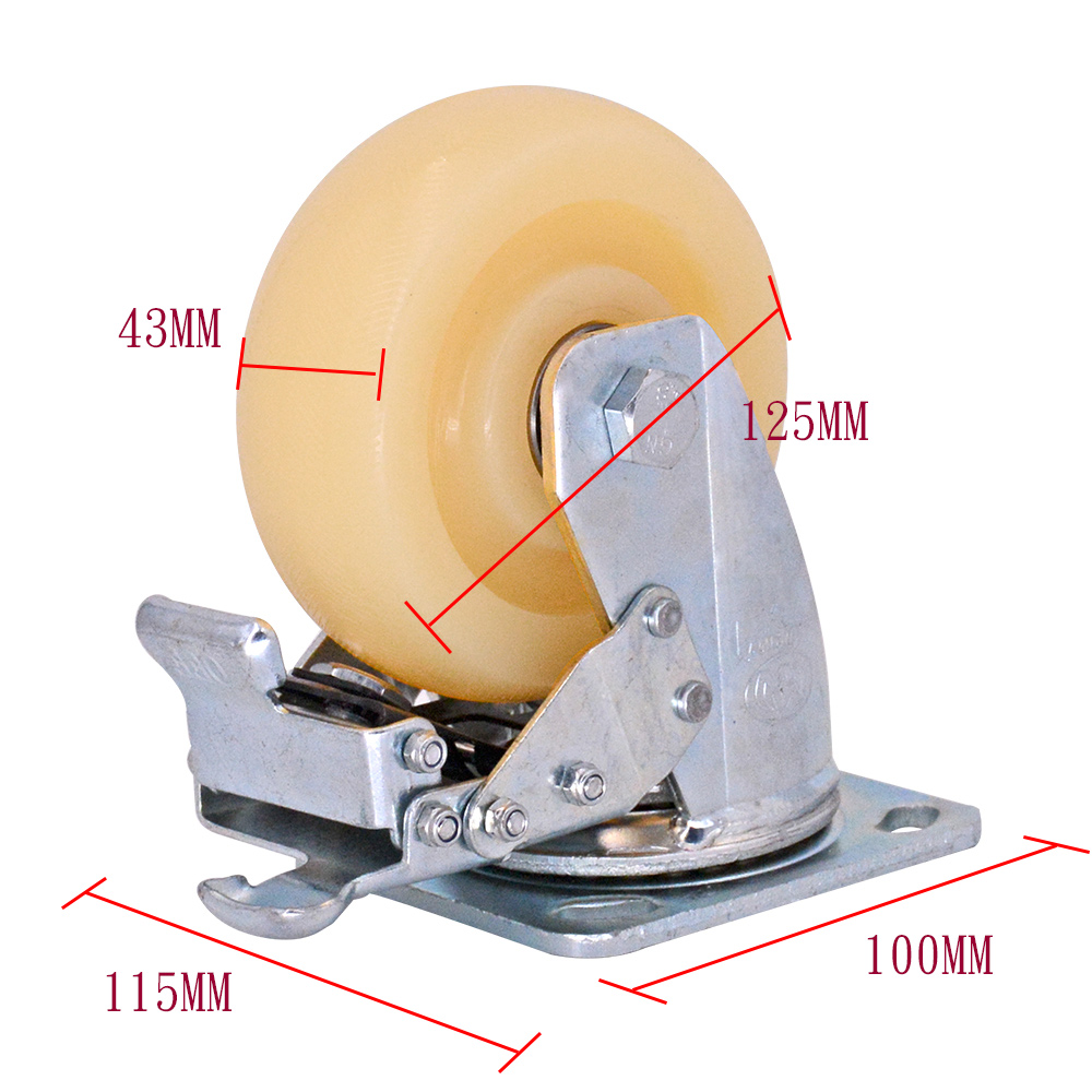 5 Inch Pp Caster With Brake