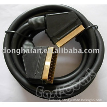 21p scart cable,Gold plated