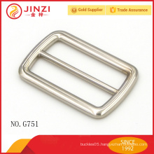 Simple style sliver color zinc alloy belt buckle