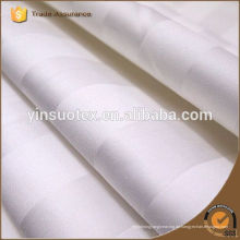 Großhandel billig Hotel verwenden weißen Satin Streifen Stoff / Baumwolle Bettwäsche Tuch Lieferanten