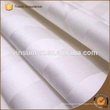 Atacado de hotel barato usar branco Satin Stripe tecido / algodão pano cama fornecedor