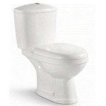 Европейский Стиль Керамическая Белая умывальная ванная комната Две части туалета (6802)