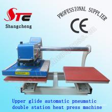 CE-Zertifikat Wärmeübertragung Drucken Maschine 40 * 40cm pneumatische doppelte Station Hitze Presse Maschine Doppel Automatik T Shirt Sublimation Maschine STC-QD05