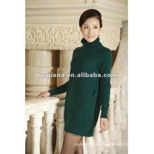 Vestido de inverno de malha de cashmere elegante