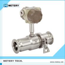 milk or beer turbine flowmeter