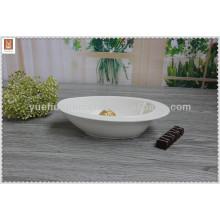 Chaozhou weißen Porzellan Salat Schüssel / Obst Schüssel