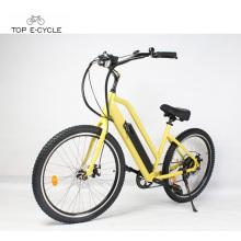 Precio barato nuevo modelo de bicicleta eléctrica hecha en China / bicicleta de crucero de playa eléctrica