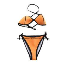 Fashion Yellow Color Neoprene Women′s Swimwear Bikini (SNBK05)